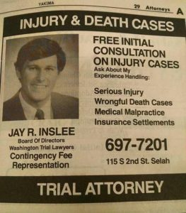 Inslee trial lawyer ad